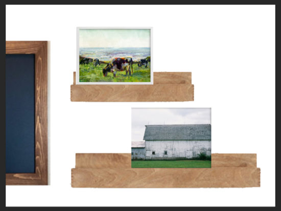 three oaks barn minted bedroom makeover wall art
