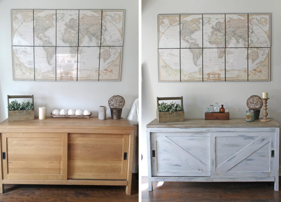 Before and After Furniture Makeover Vintage Farmhouse