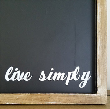 DIY Customized Magnetic Chalkboard