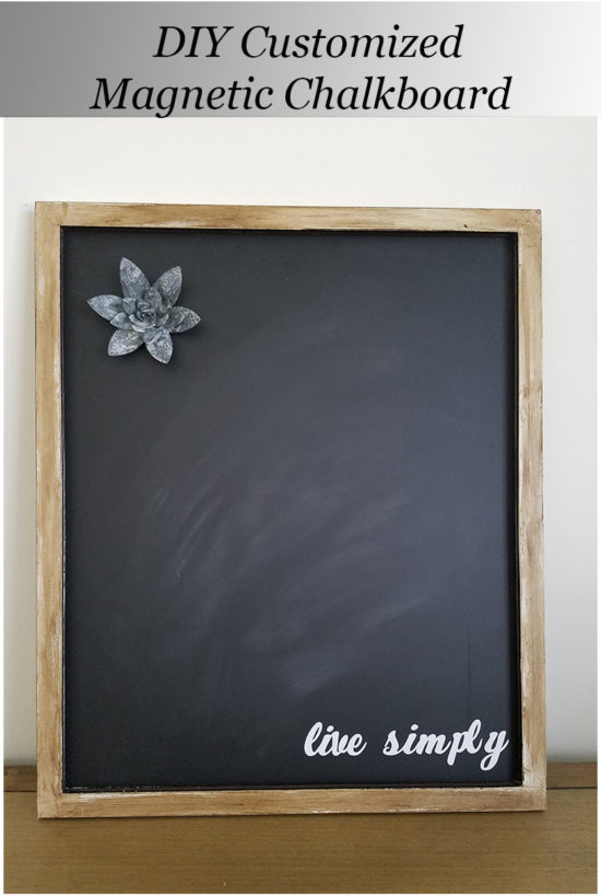 DIY Customized Magnetic Chalkboard with the Cricut Explore Air 2. #sponsored