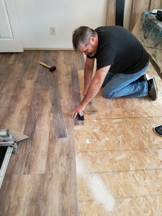 Installing Vinyl Floors A Do It Yourself Guide - What do you put under vinyl flooring