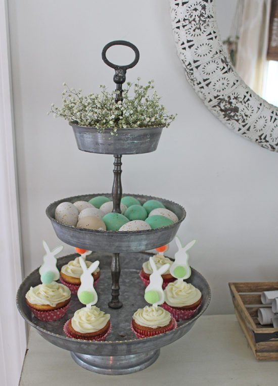 Easter 3-tiered tray Easter desserts
