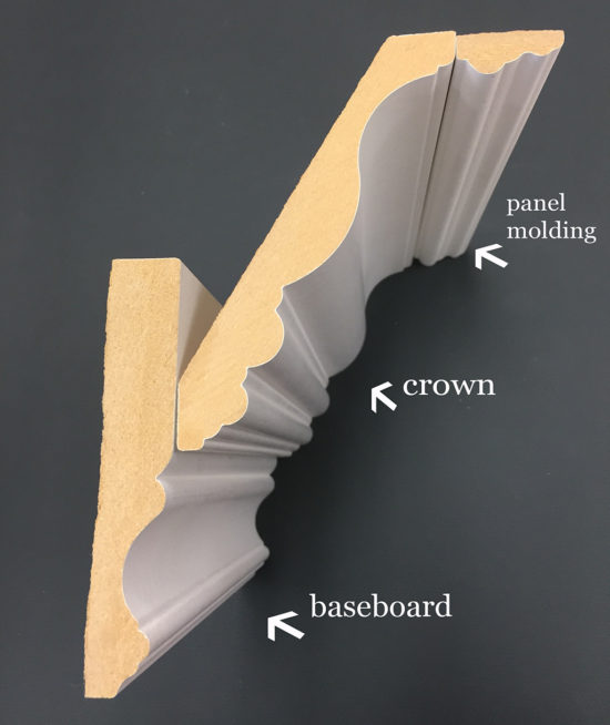 How to Install layered crown molding using baseboards