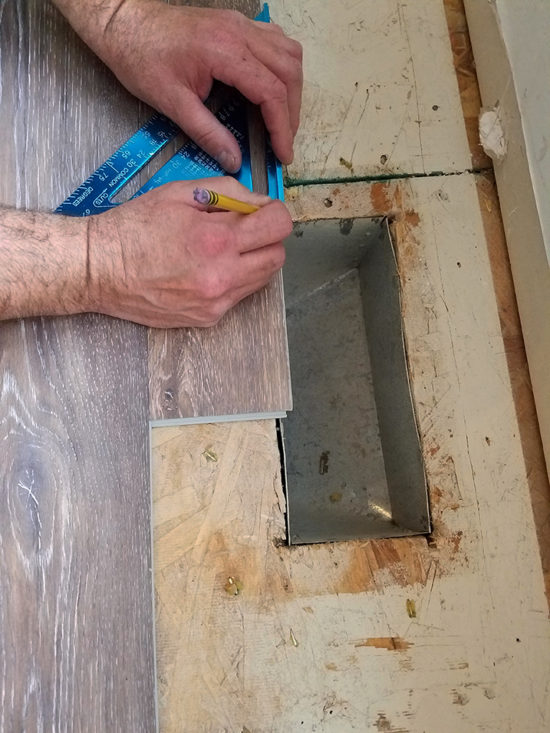 How to cut around floor vents when installing vinyl floors