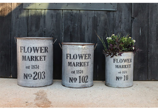 galvanized metal farmhouse planters backyard ideas