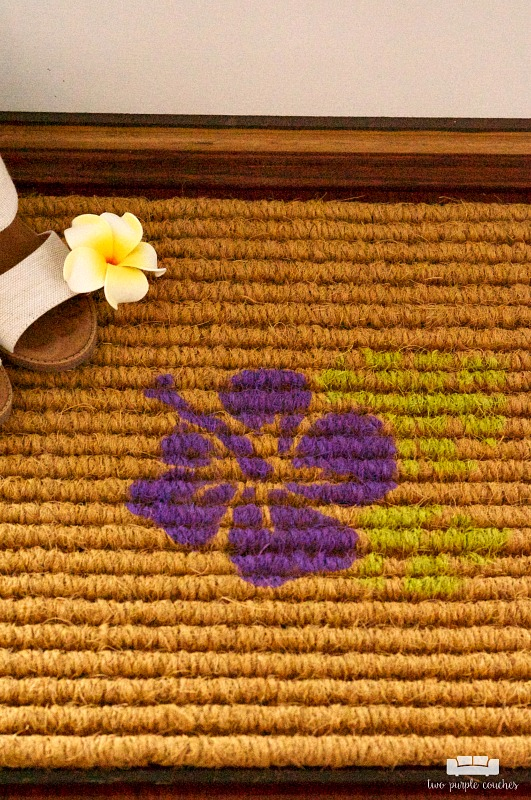 tropical-hibiscus-flower-diy-doormat-summer