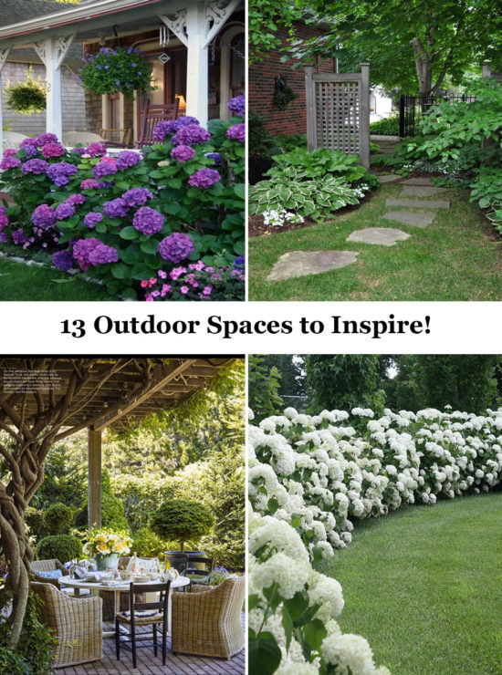 13 Outdoor Spaces to Inspire - lots of ideas for your yard!