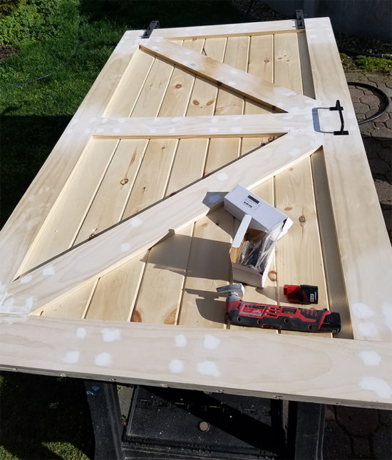 Building a barn door from scratch & How To Build A Sliding Barn Door For Less -