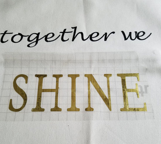 Foil Adhesive Cricut Projects DIY Pillow Cover