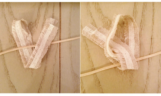 How to tie a knot for a rag banner garland