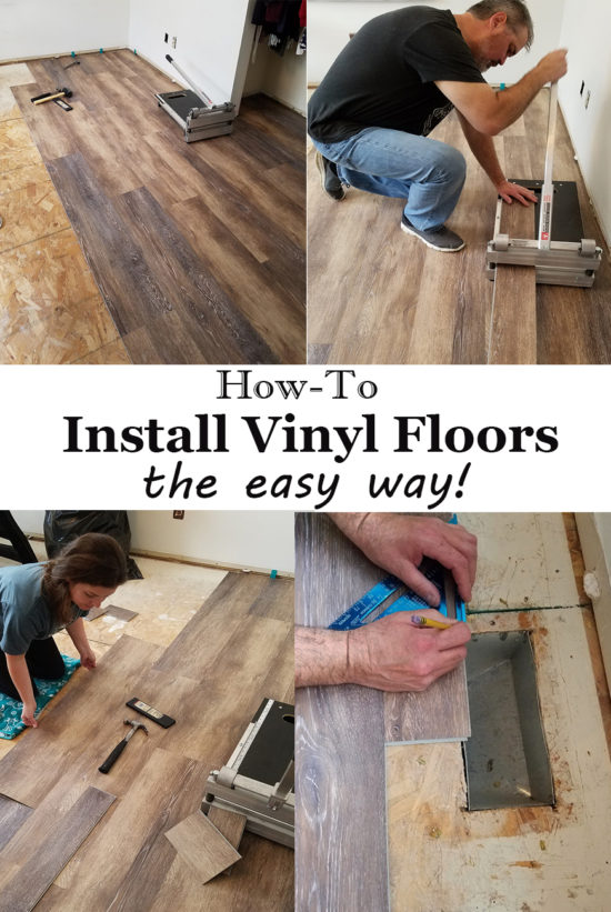 Installing Vinyl Floors - No underlayment and no power tools needed, easy DIY!