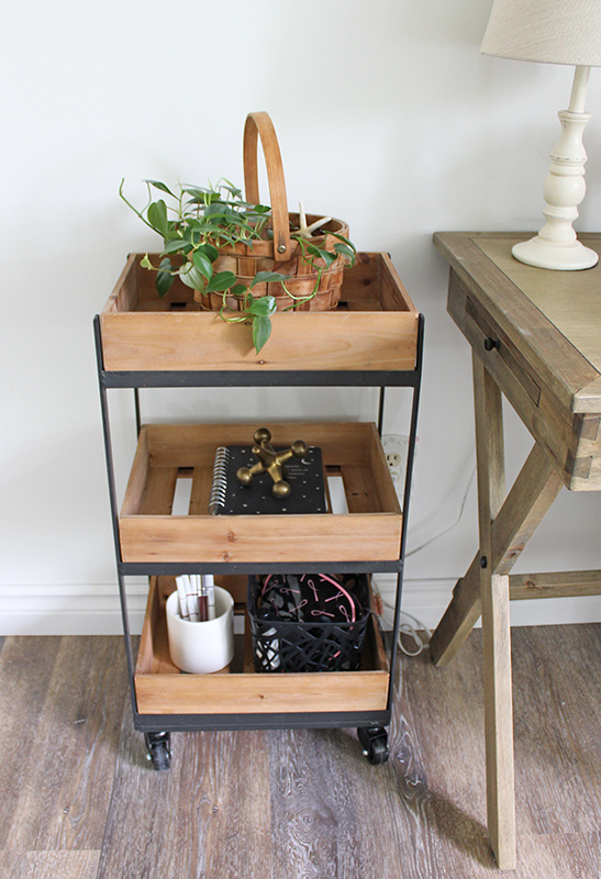 bedroom makeover rolling cart organizer