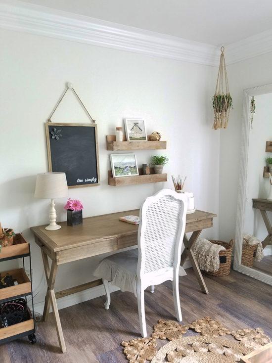 Rustic Desk Bedroom Makeover Home Office Teen