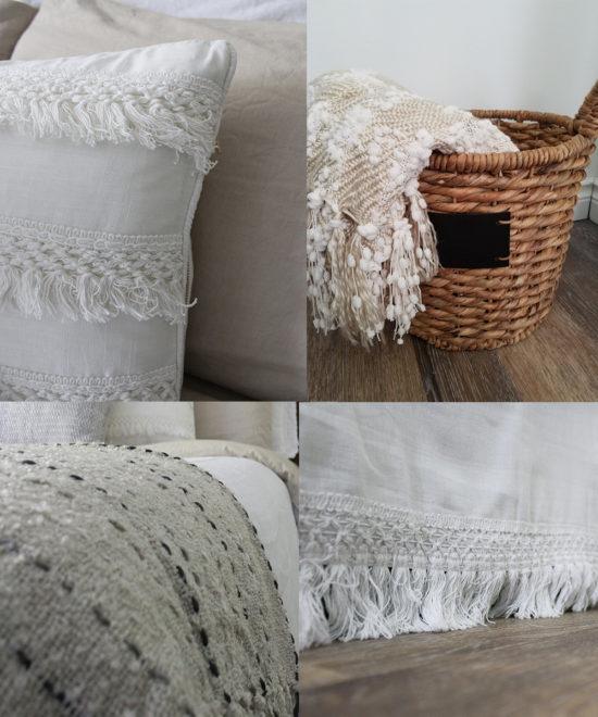 neutral bedroom makeover textures
