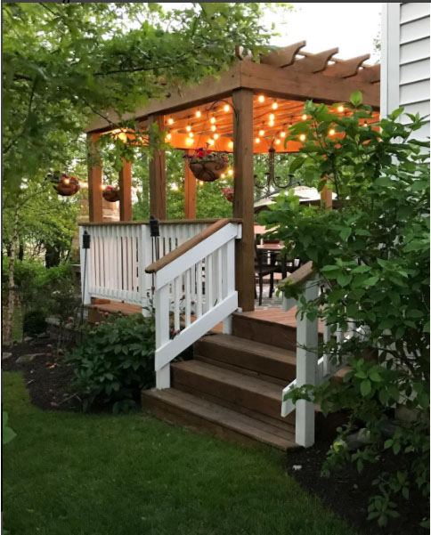 deck with pergola via Thrifty Decor Chick blog