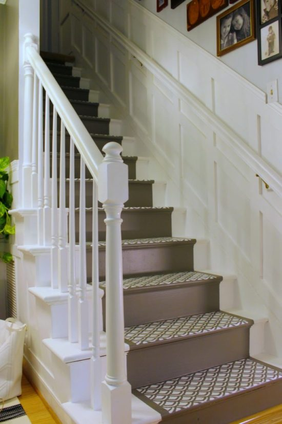 knock if off kim board and batten staircase with painted runner