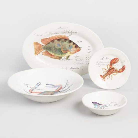 Nautical sealife dishes for summer