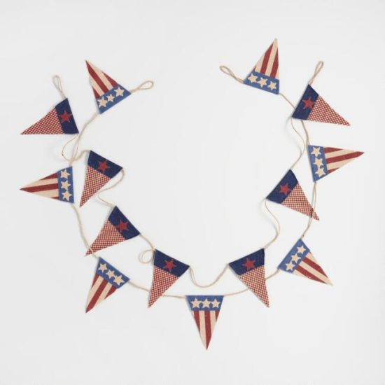 red white and blue american flag banner