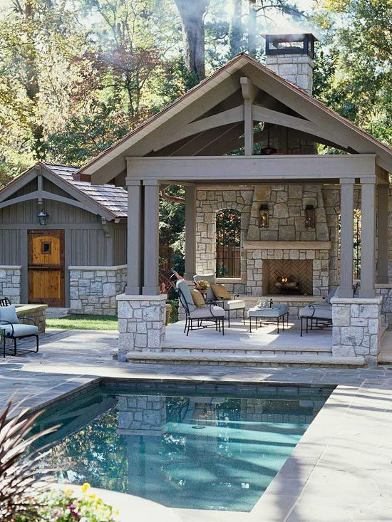 small built in pool outdoor spaces