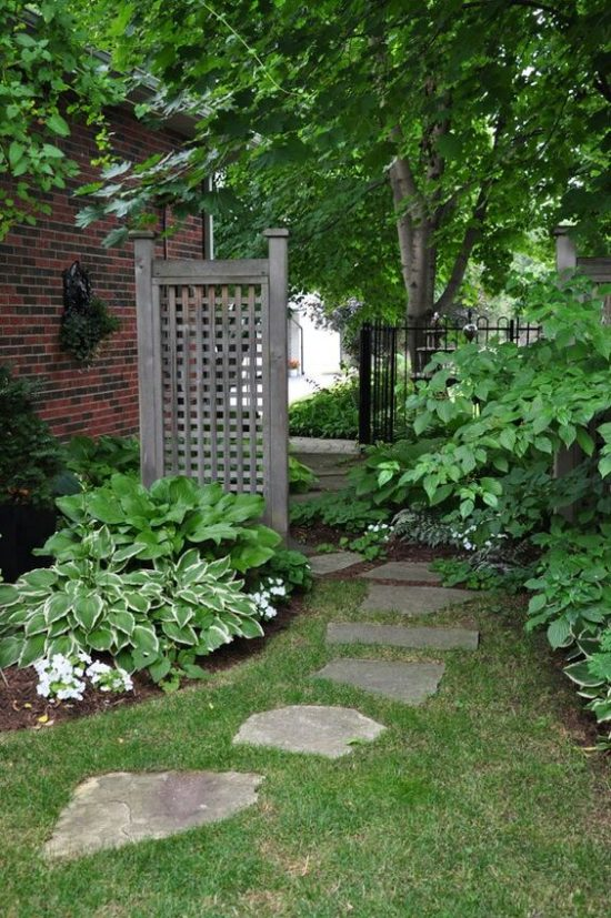 stepping stone path side yard outdoor spaces