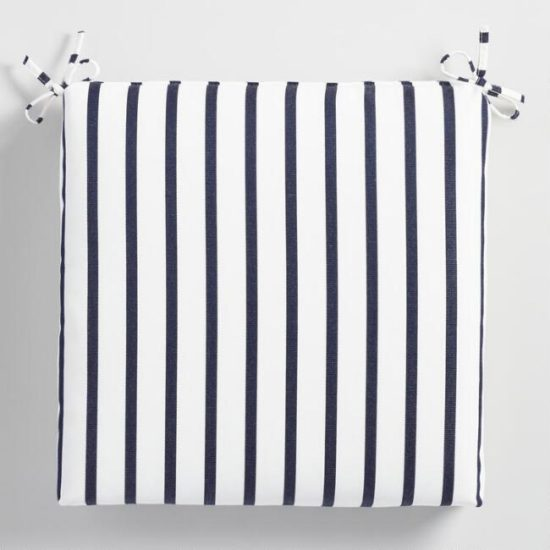 Summer Striped Chair cushions ideas for outdoor living