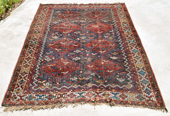 Antique Tribal Kilim Bird Rug