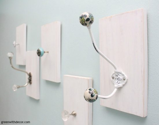 DIY-towel-rack-from-old-knobs-wood-tidewater-crystal-hook-aqua-knobs-4
