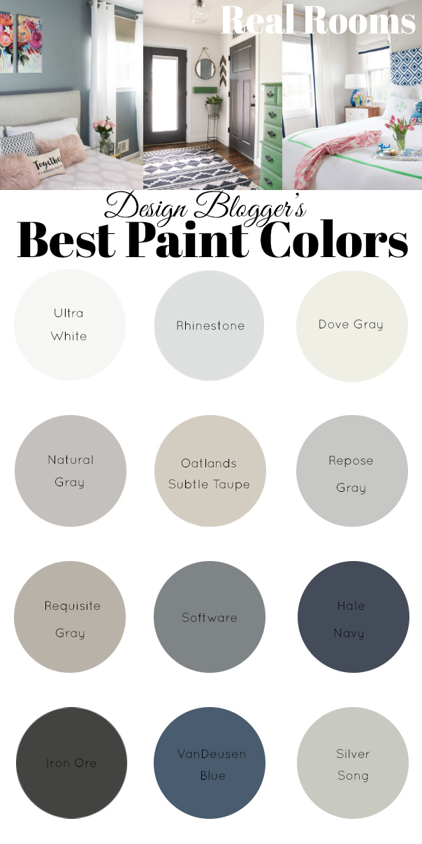 Design Bloggers Favorite Paint Colors