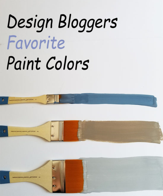Design Bloggers share their favorite paint colors