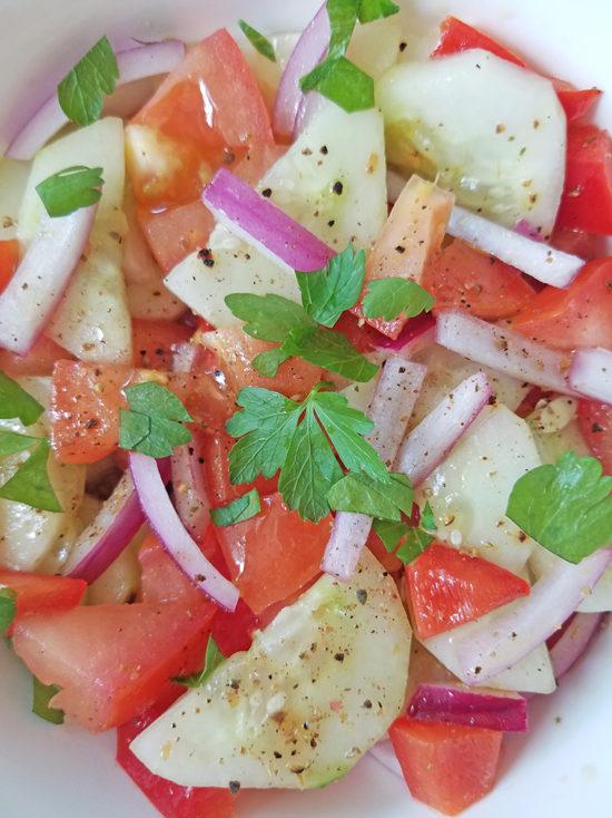 Jersey tomato and cucumber salad recipe 1