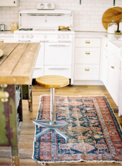 Kilim Rug in the kitchen style me pretty