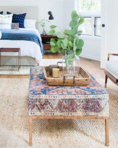 amber interiors kilim ottoman