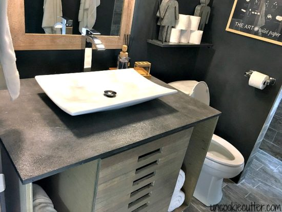 diy concrete bathroom countertop uncookie cutter