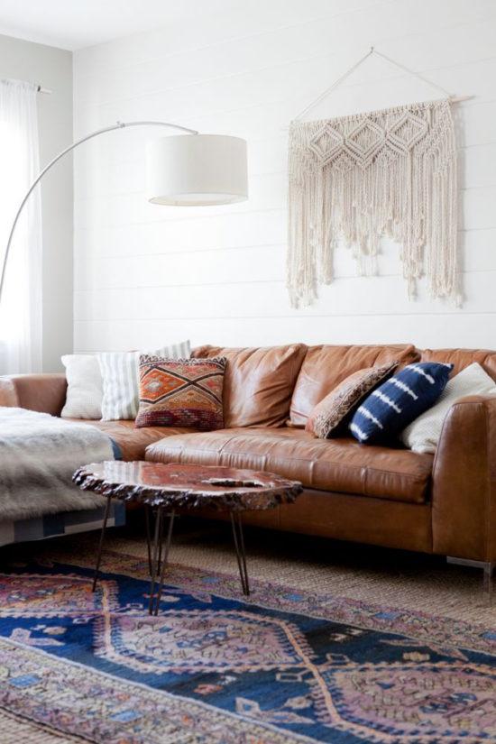 domino modern living room kilim rug