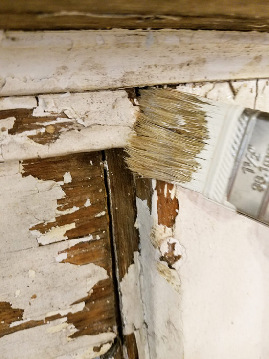 how to seal chippy paint vintage mantel