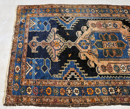 Antique Persian Blue Tribal Kilim Rug