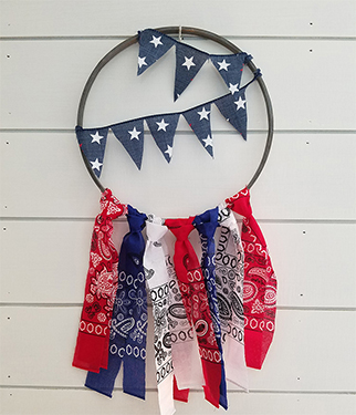 Red, White and Blue Patriotic Wreath