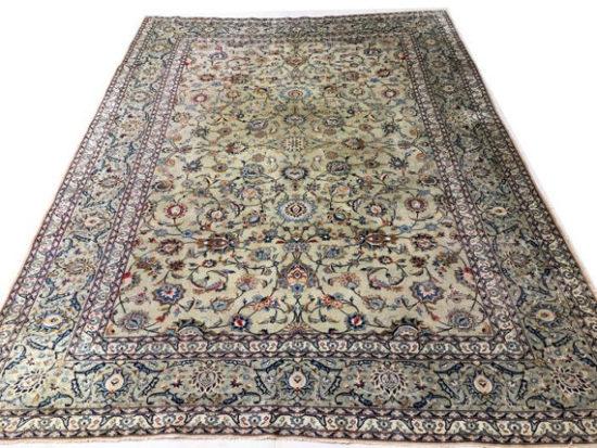 twentieth century isfahan wool and silk kilim rug