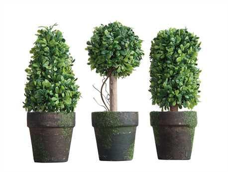 potted topiary set of 3