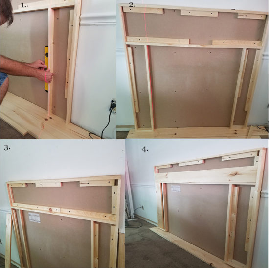 How to build a frame for a antique mantel (4)