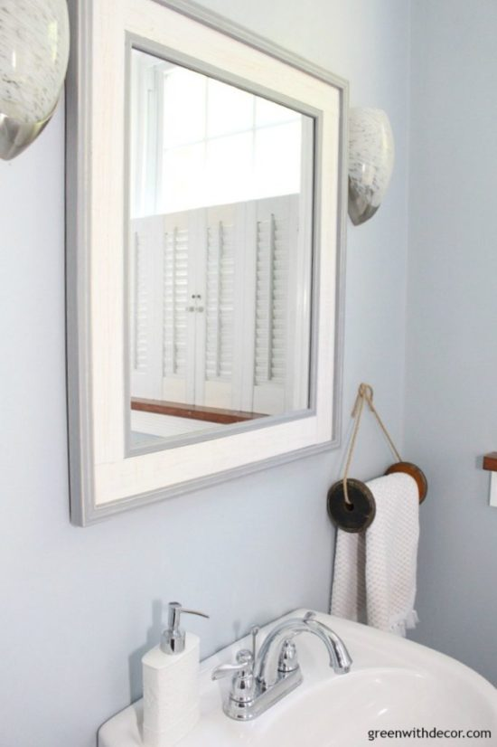 bathroom makeover Green With Decor