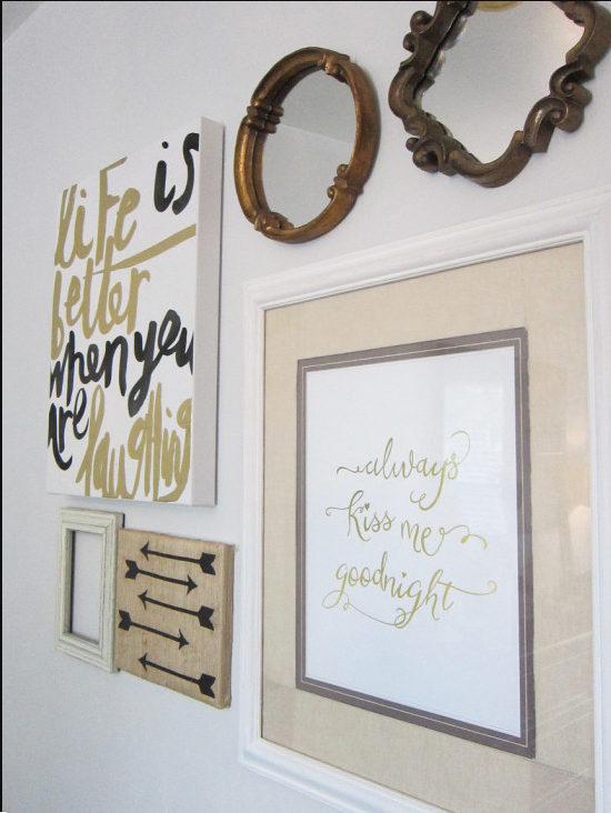 bedroom ideas - diy gallery wall