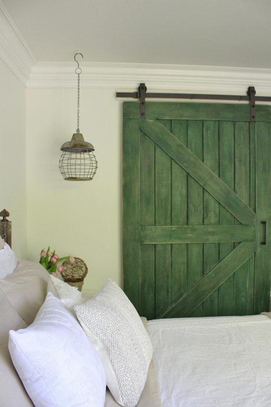 bedrrom ideas - sliding barn door for the closet