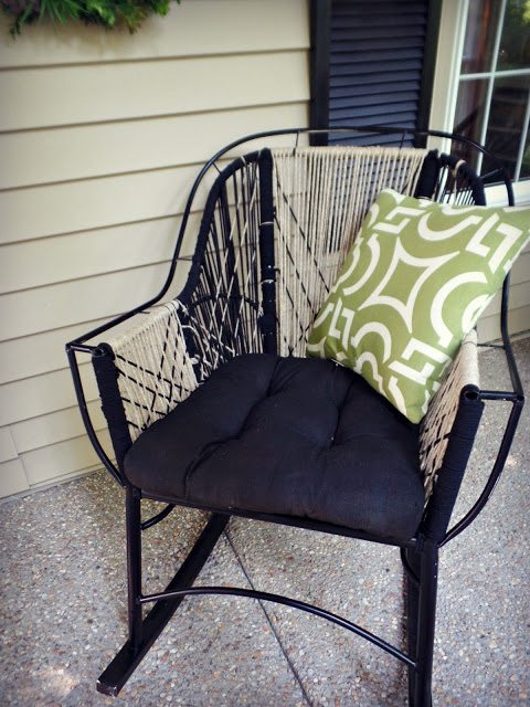 macrame porch chair