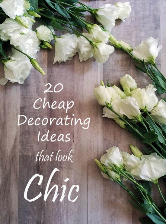 20 Cheap Decorating Ideas that look chic!!