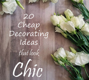 Cheap Decorating Ideas that look chic