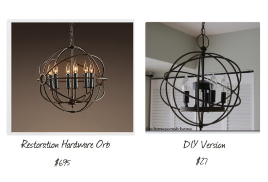 Cheap decorating ideas knock off orb chandelier
