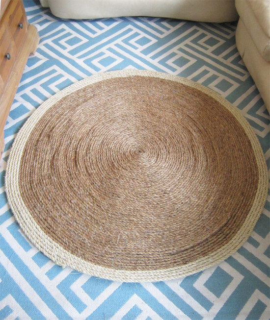 DIY-Jute-Rug-budget decorating ideas