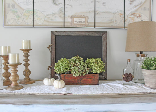 Decorating for fall with dried hydrangeas First Harvest dried flowers
