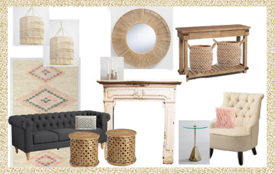 living room design board small spaces makeover